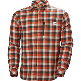 Helly Hansen Lokka T-shirt à manches longues Homme, cherry tomato plaid